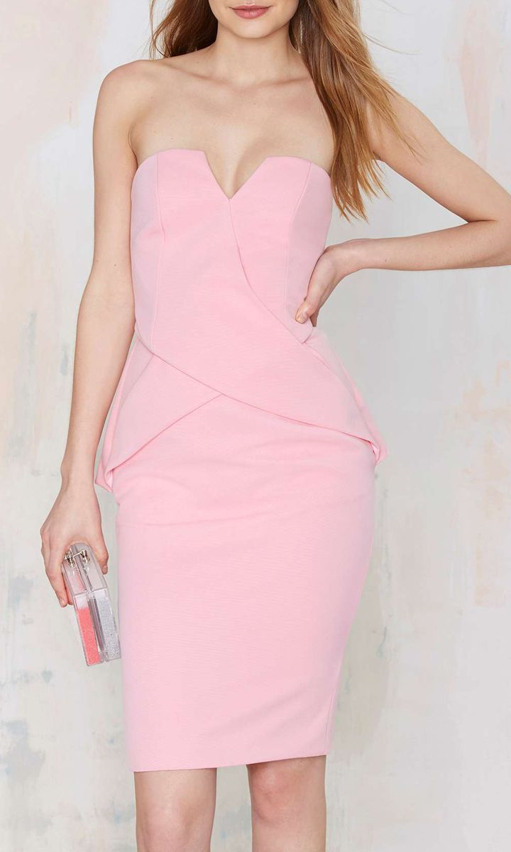 cute pink strapless dress | Casual dresses | Pinterest | Rosas ...