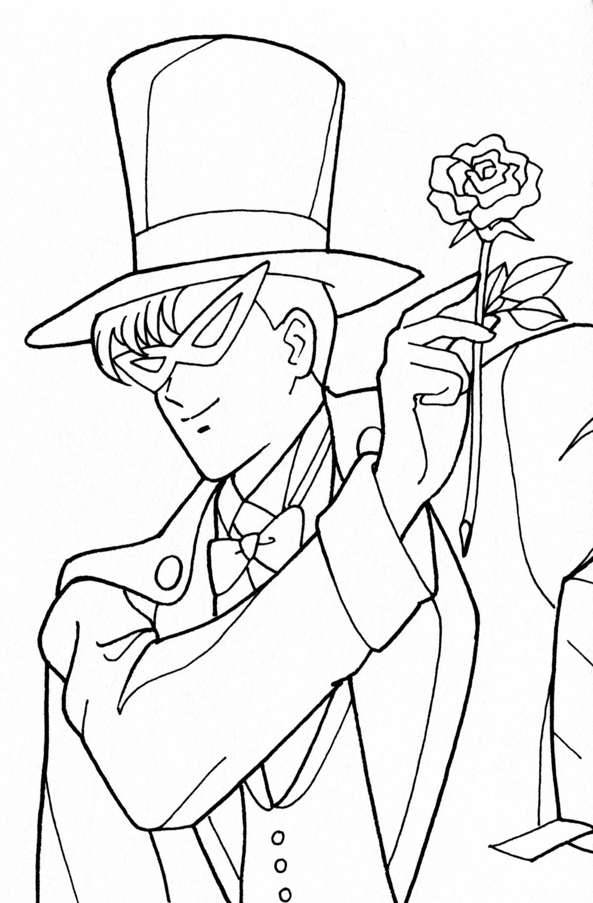 tuxcedo mask coloring pages | Tuxedo Kamen Coloring Page // #sailormoon | Sailor moon ...