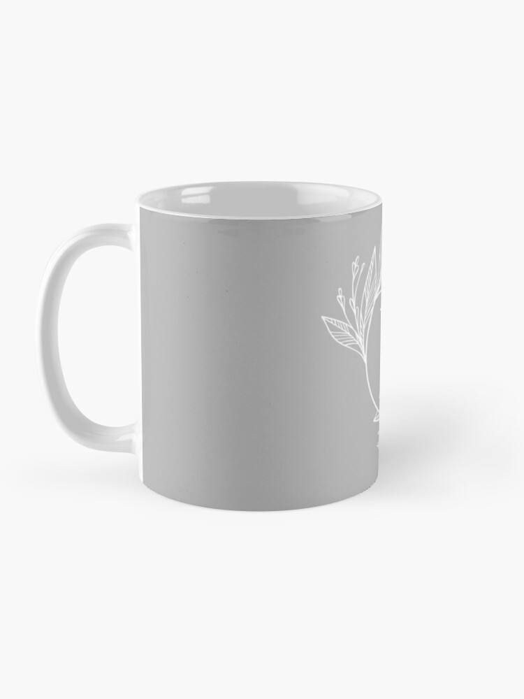 Personalized Grey And White Monogram With Initial Letter E Luxury Leaves Pattern On A Grey Background Mug By Annartlab In 2020 Mugs Scandinavian Design Bedroom Letter Mugs