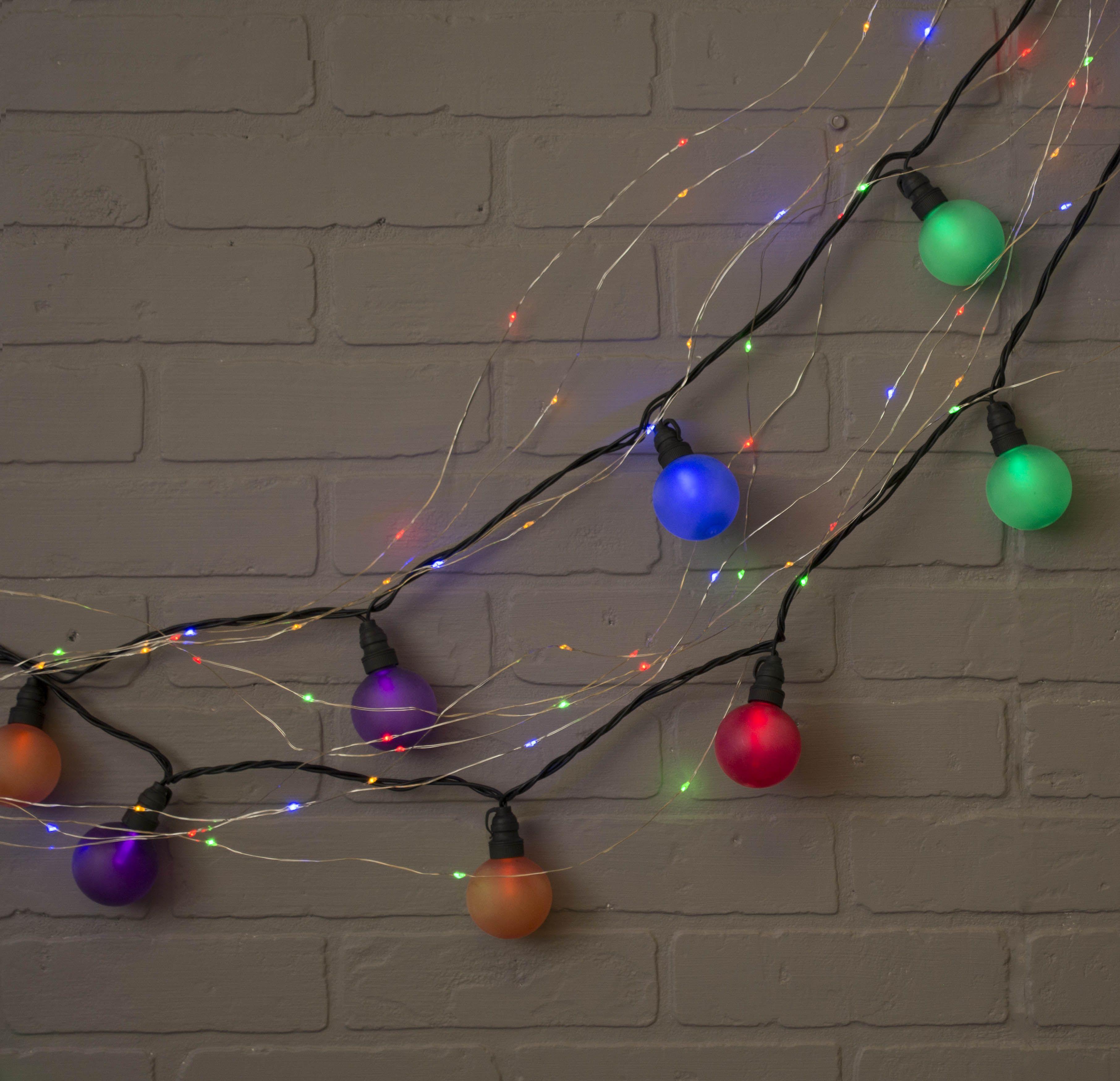 Fairy Lights, 10 Strand Spray, 120 Led, 6Ft, Multifunction, Multicolor