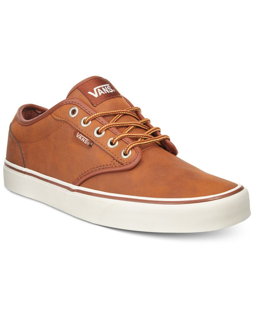 Vans Men s Leather Atwood Sneakers  e4ccf4b26