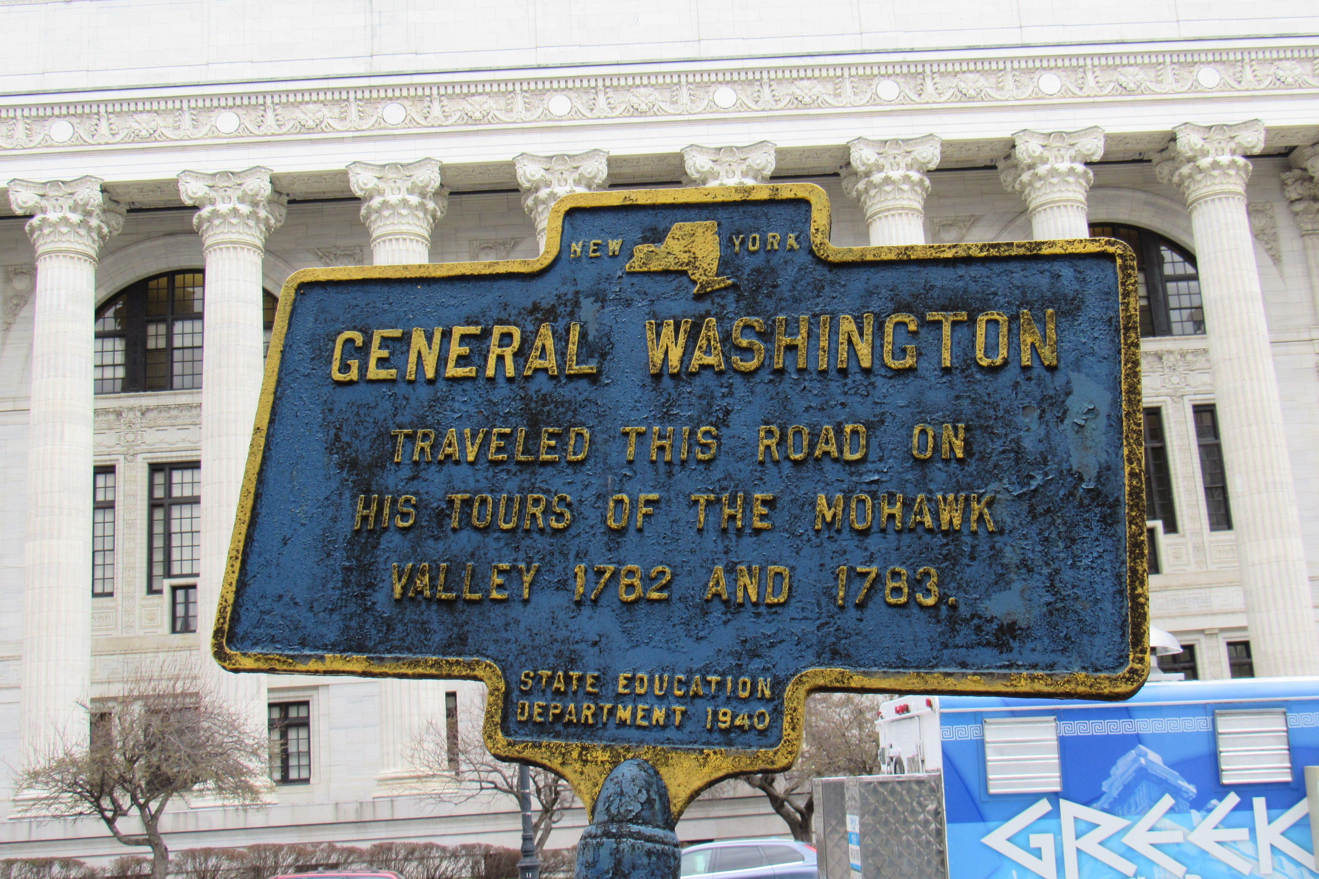 General Washington Traveled This Road Historical Marker Washington