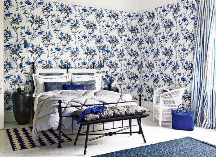 Wandtapeten für einen wunderschönen Schlafzimmer-Look   Pinterest ...