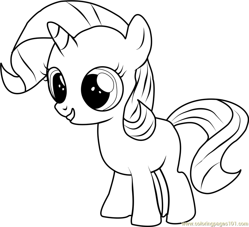 Filly Rarity Coloring Page Free My Little Pony My Little Pony Coloring Horse Coloring Pages My Pretty Pony