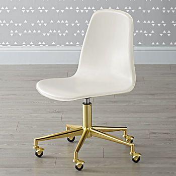 Class Act White  Gold Desk Chair Office Pinterest Desks, Gold