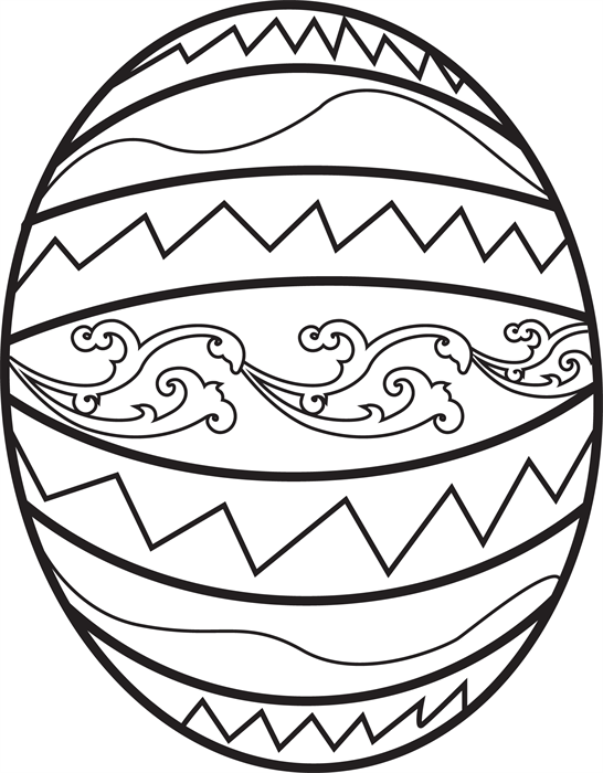 Easter Egg Coloring Page 1