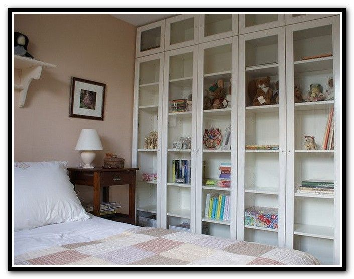 ikea billy bookcase glass doors | home design ideas | cool library,