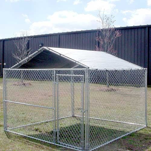 King Canopy Dog House Kennel Cover - 10 by 10 -Feet Silver The actual dimensions are x the cover fits a standard Kennel UV protected polyethylene cover ... & Keep your pup protected from the sun and sheltered from the rain ...