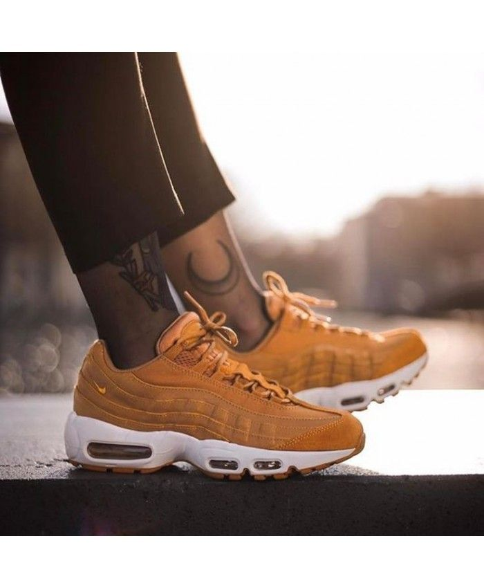 Nike Air Max 95 Premium Gold Trainers | Shoes valentino ...