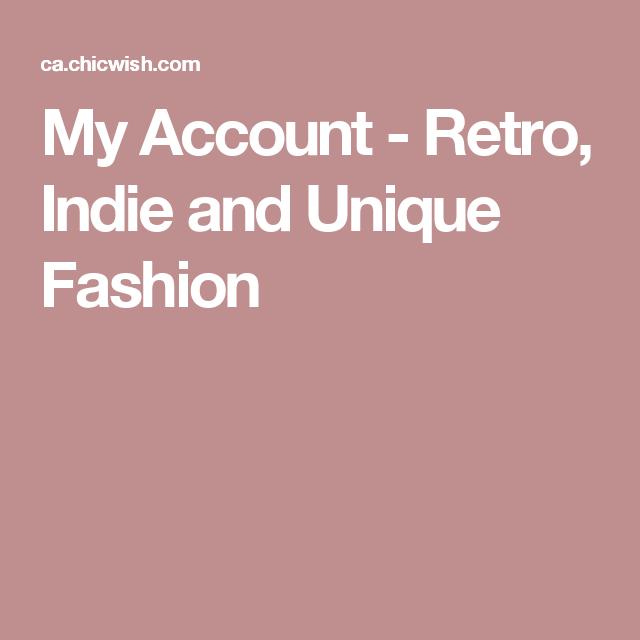 My Account - Retro, Indie and Unique Fashion