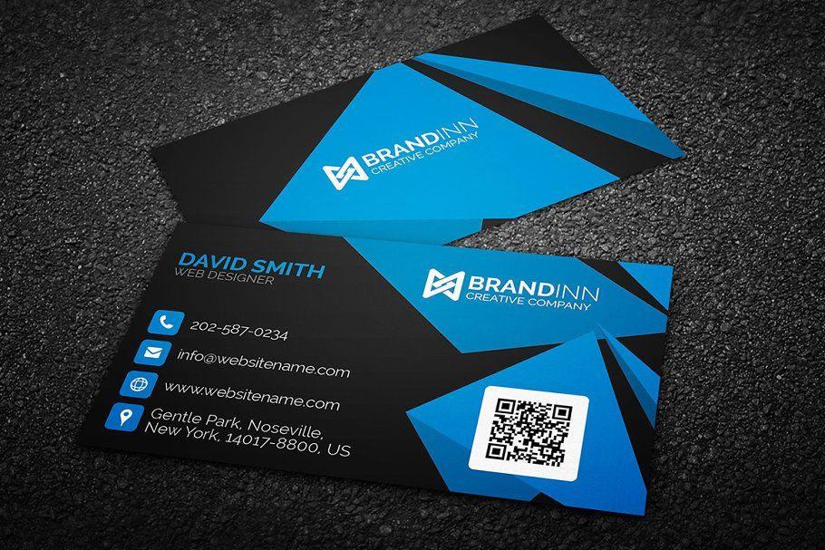 Creative Abstract Blue Business Card Blue Abstract Creative