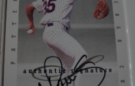 I will sell my AUTO 1996 Bob Patterson Donruss for $6.00
