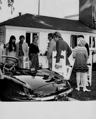 Orig 60's Steve McQueen Sonny Cher Twiggy Candid House Party Jaguar XK SS | eBay