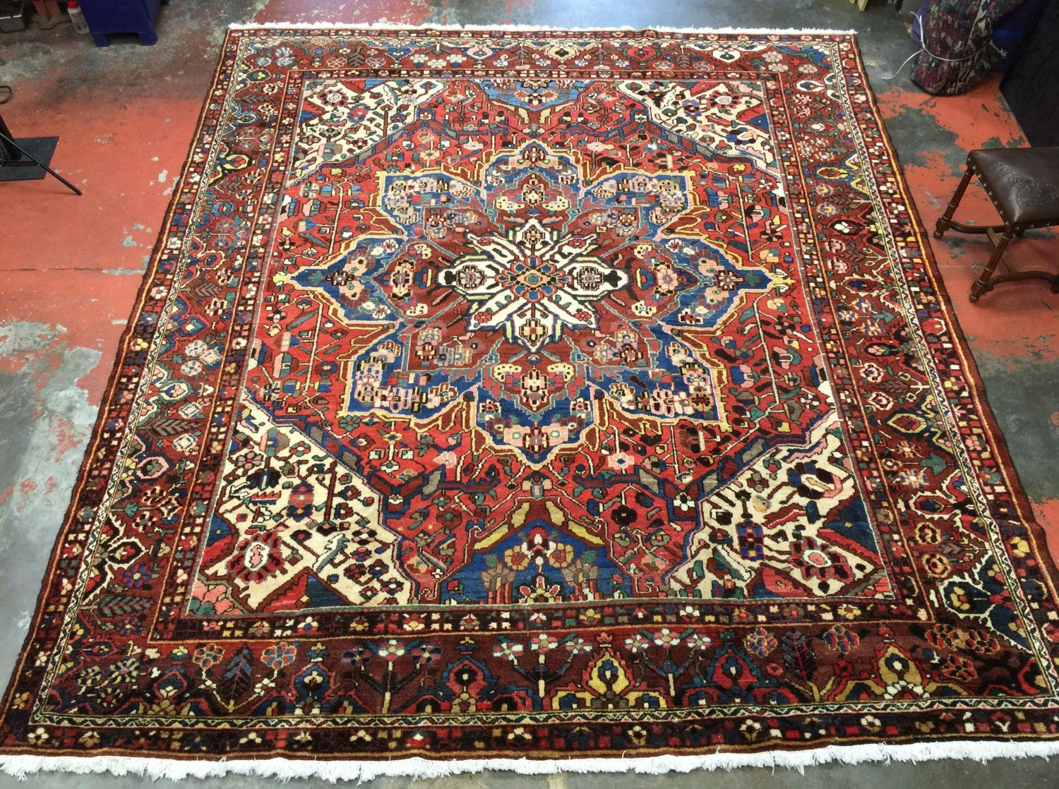 Antique Persian Rug 11x12 5 Bold Beautiful Organic By Antieksman Rugs On Carpet Persian Rug Antique Persian Rug