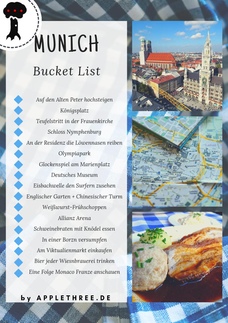 Sehenswürdigkeiten München Bucket List – Applethree – Food | Travel | Life