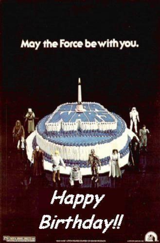 Pin On Star Wars Birthday Greetings