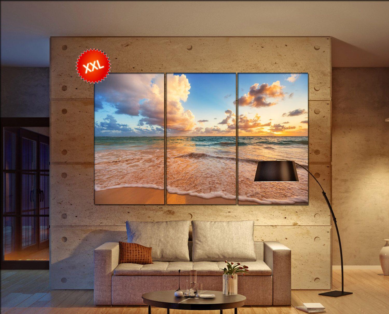Ocean Beach Wall Art Print Prints On Canvas Tropical Ocean Beach Sunrise  Photo Art Work Framed Art Artwork Office Decor