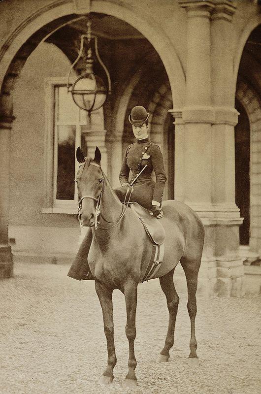 The Princess Of Wales Alexandra On Horseback Vintage Horse Horses Horsey