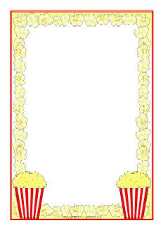 popcorn a4 page borders sb8252 sparklebox makes a great