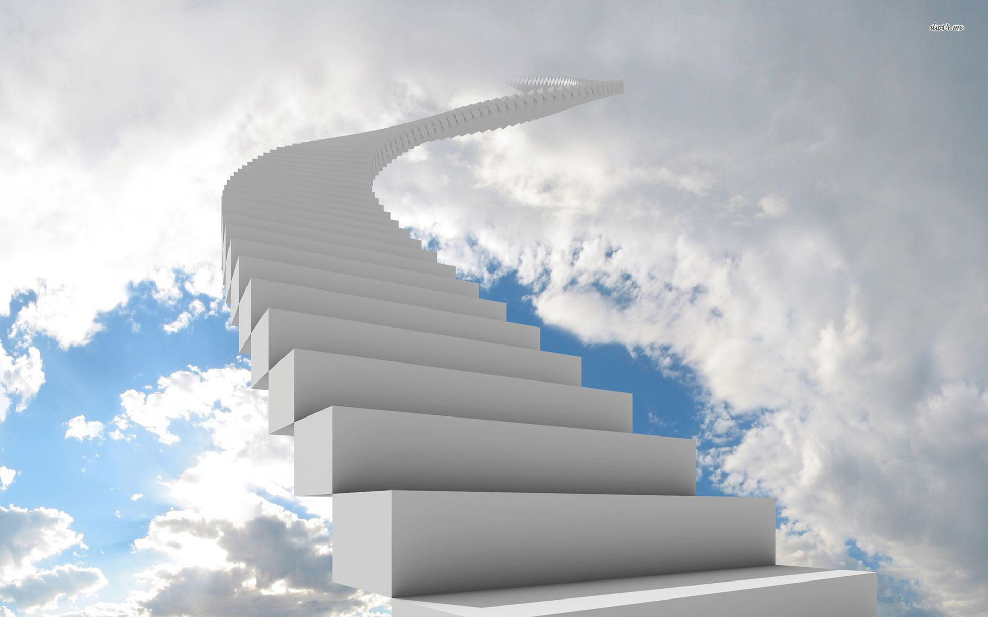 White Staircase Lost In The Fluffy Clouds Hd Wallpaper Stairway To Heaven Heaven Wallpaper Stairs To Heaven