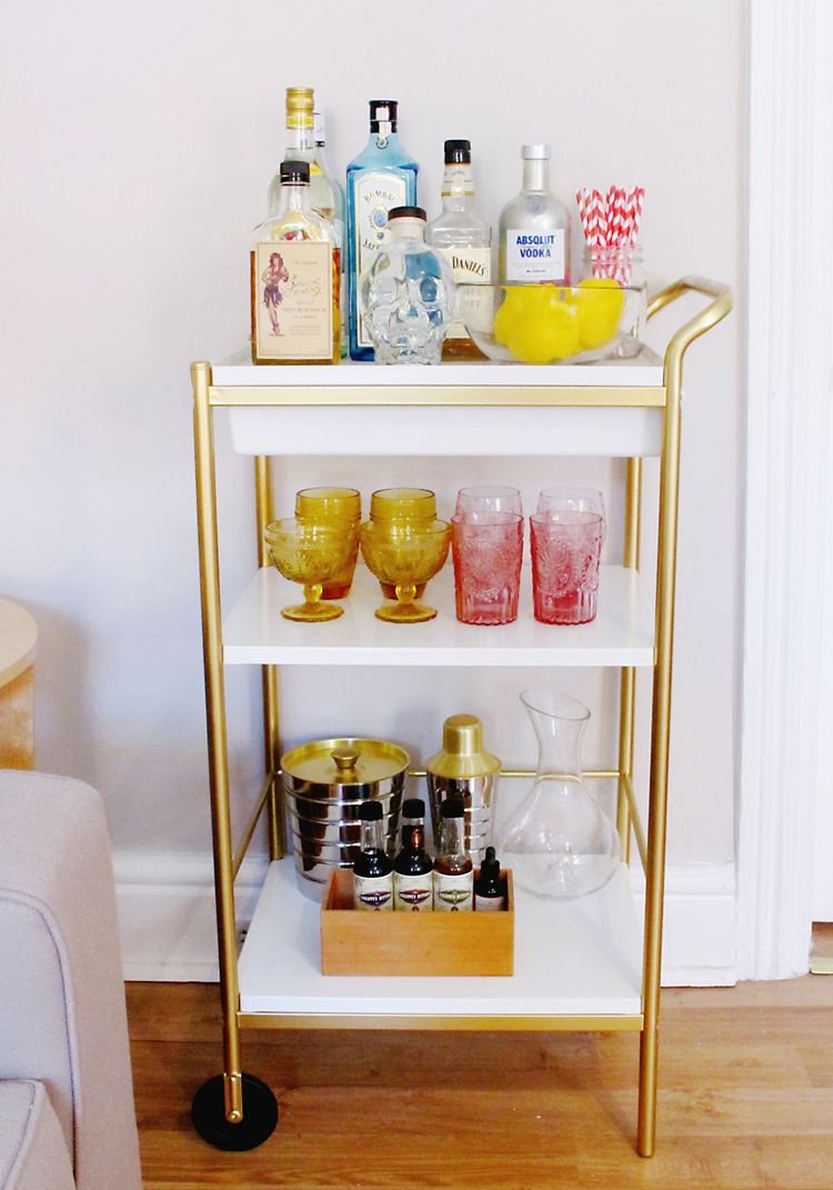 Bar Cart Style: Tips on Styling and Stocking a Home Bar | Pinterest ...