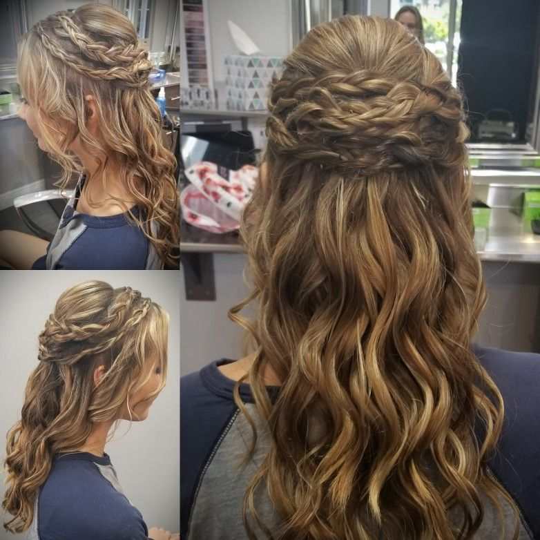Half Up Updo With With Side Braids Prombridal Hair 2018 Hair Done