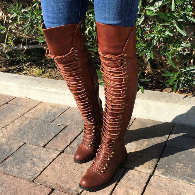 Thigh High Combat Boots Those boots are the real deal! Just ...