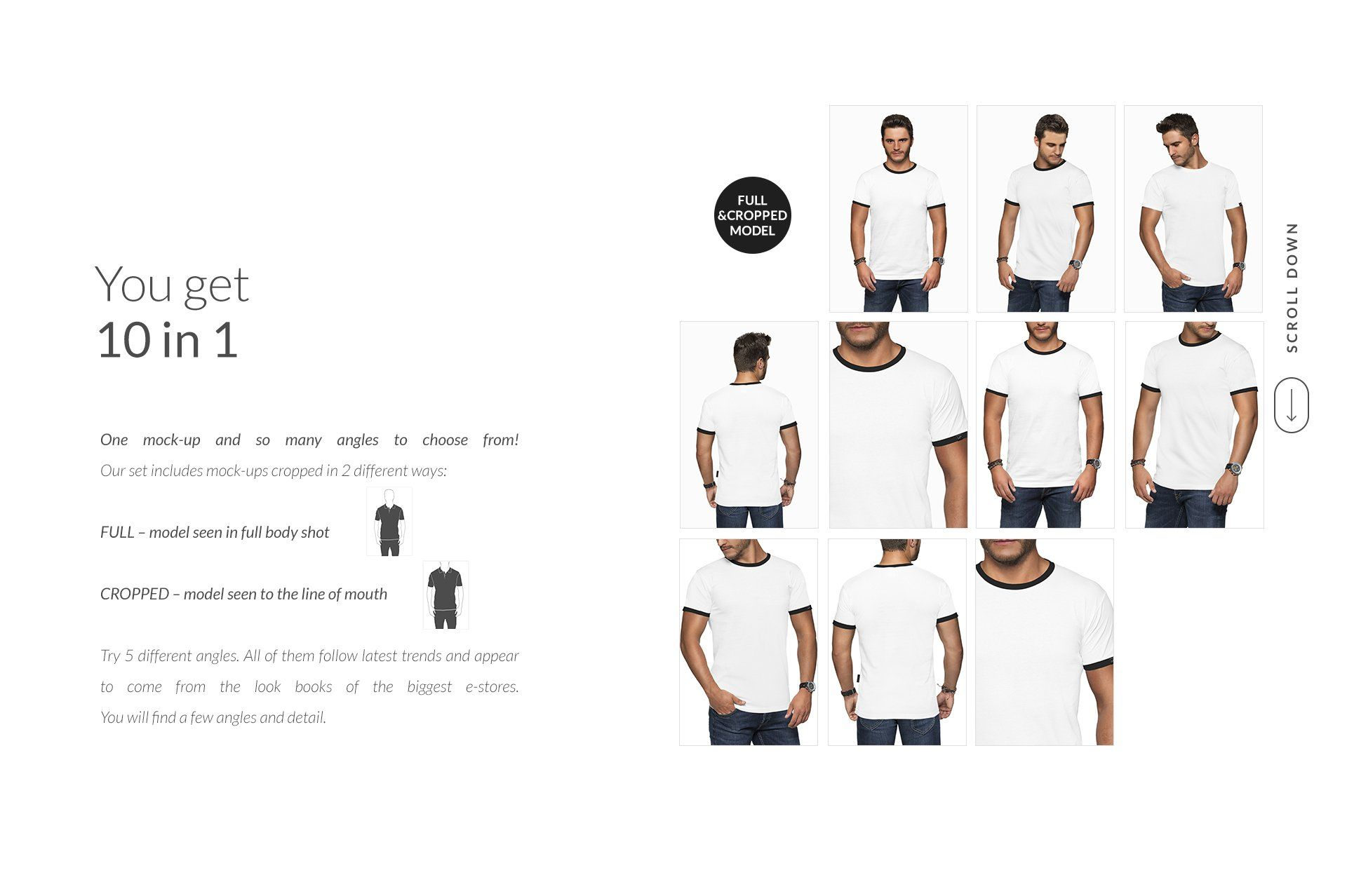 Download Men T Shirt Mockups Set Free Demo Shirt Mockup Tshirt Mockup Corporate Brochure Cover