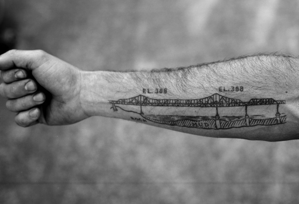 Max schaafs bay bridge tattoo scott pommier tattoo pinterest tattoo malvernweather Choice Image