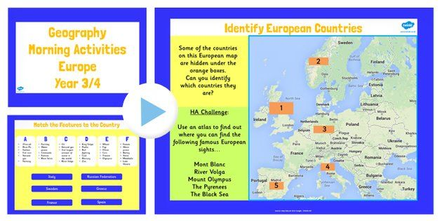 Year 3 4 europe geography morning activities powerpoint ks2 year 3 4 europe geography morning activities powerpoint ks2 twinkl gumiabroncs Gallery