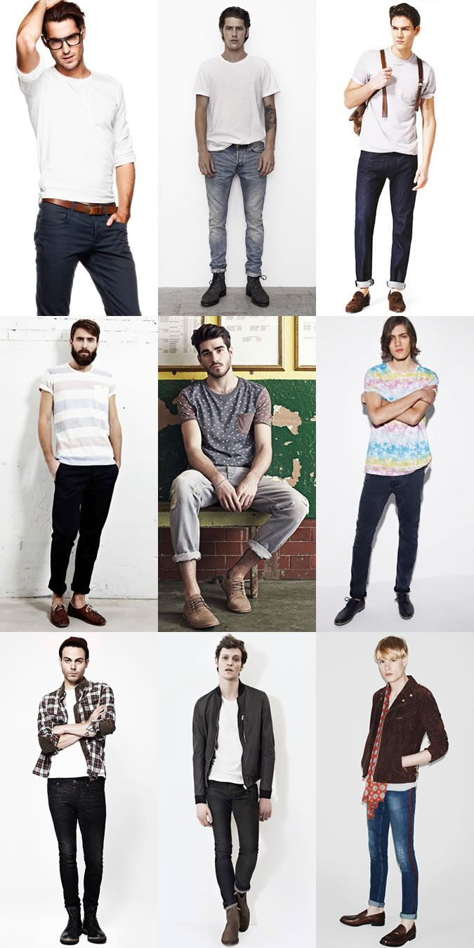 Varied Jeans and T-Shirt Combinations