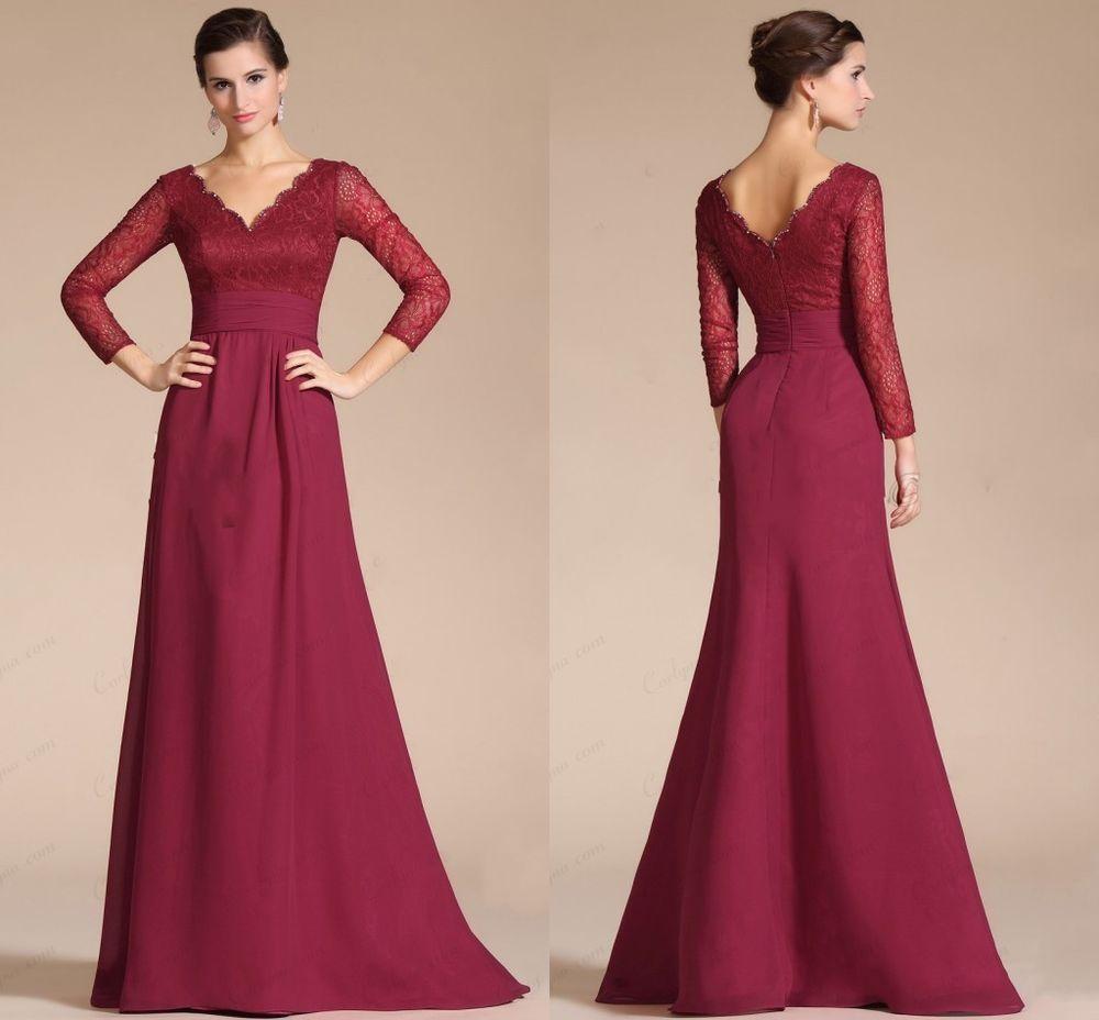 burgundy spitze abendkleider ballkleider von brautmutter gr