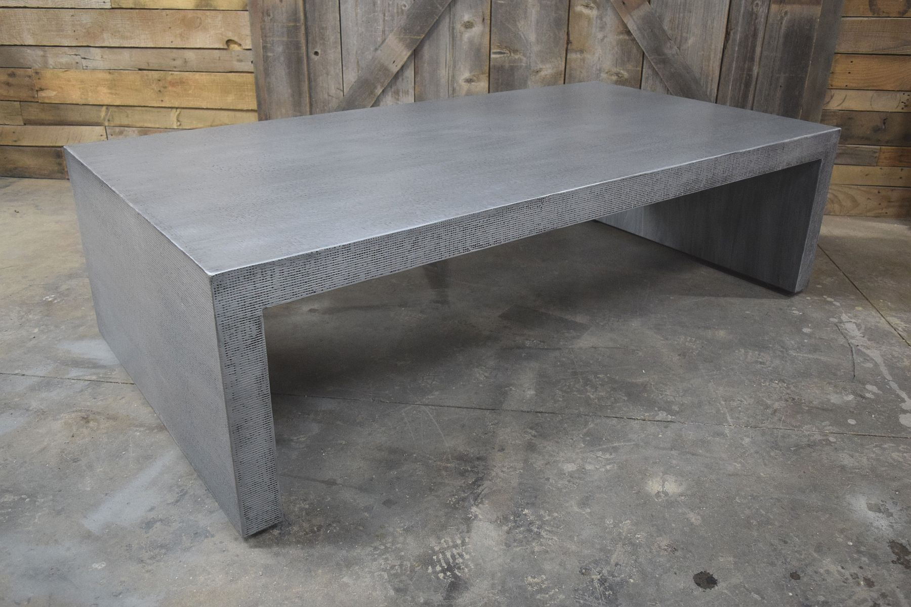 Faux Concrete Coffee Table Made From Maple With Epoxy