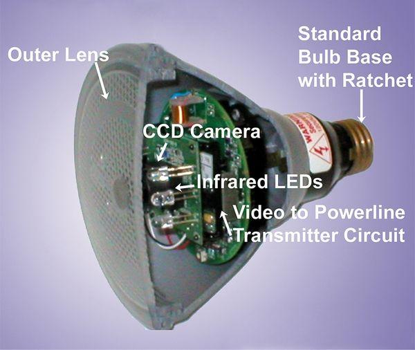 Outdoor Hidden Security Camera In Light See More