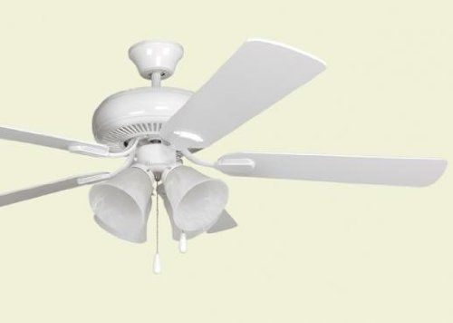 Litex E Pd52ww5c4 Piedmont Ceiling Fan Ellington Piedmont 52 Inch 5 Blades Ceiling Fan White Finish Dual Mounting Inst Ceiling Fan Home Improvement Piedmont