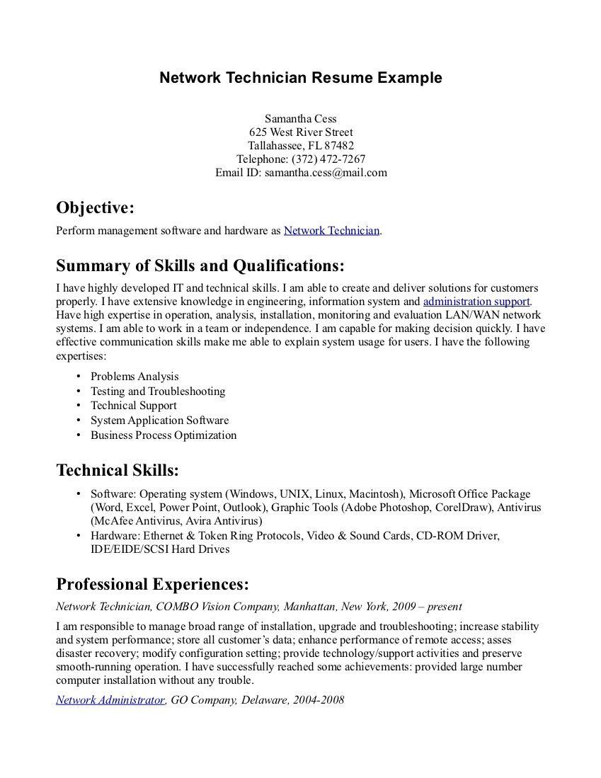 Pharmacy Technician Resume Template - Resume Sample