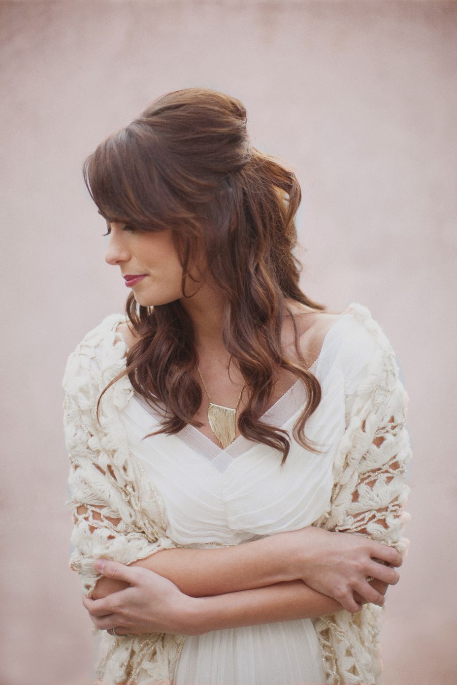 Loose wedding hair with volume bride hair and makeup pinterest