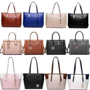 Las Designer Long Handle Tote Shoulder Handbag Reversible Pu Leather Bag Ebay Giftry