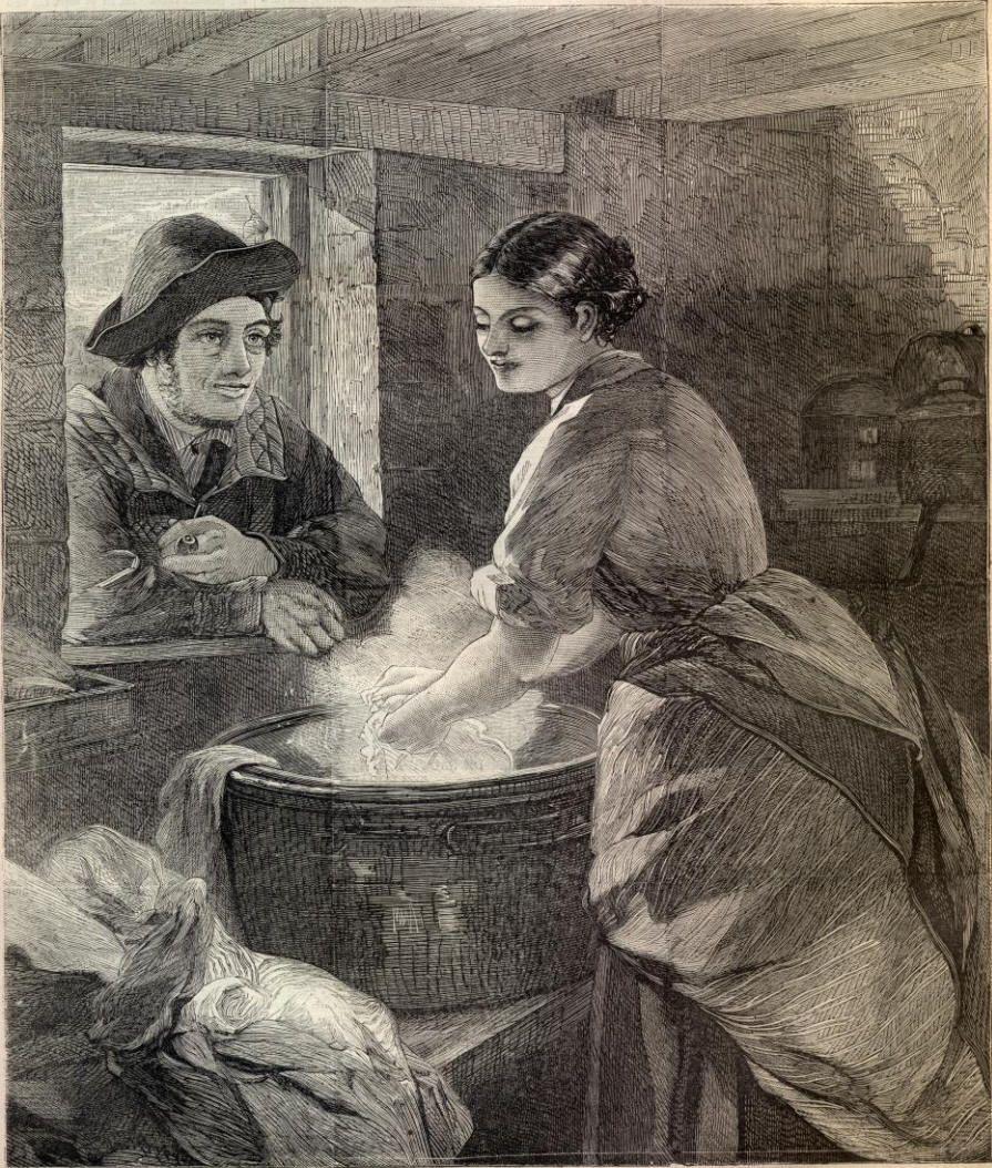 """RUSTIC COURTSHIP."" Harper's Weekly, July 15, 1865"