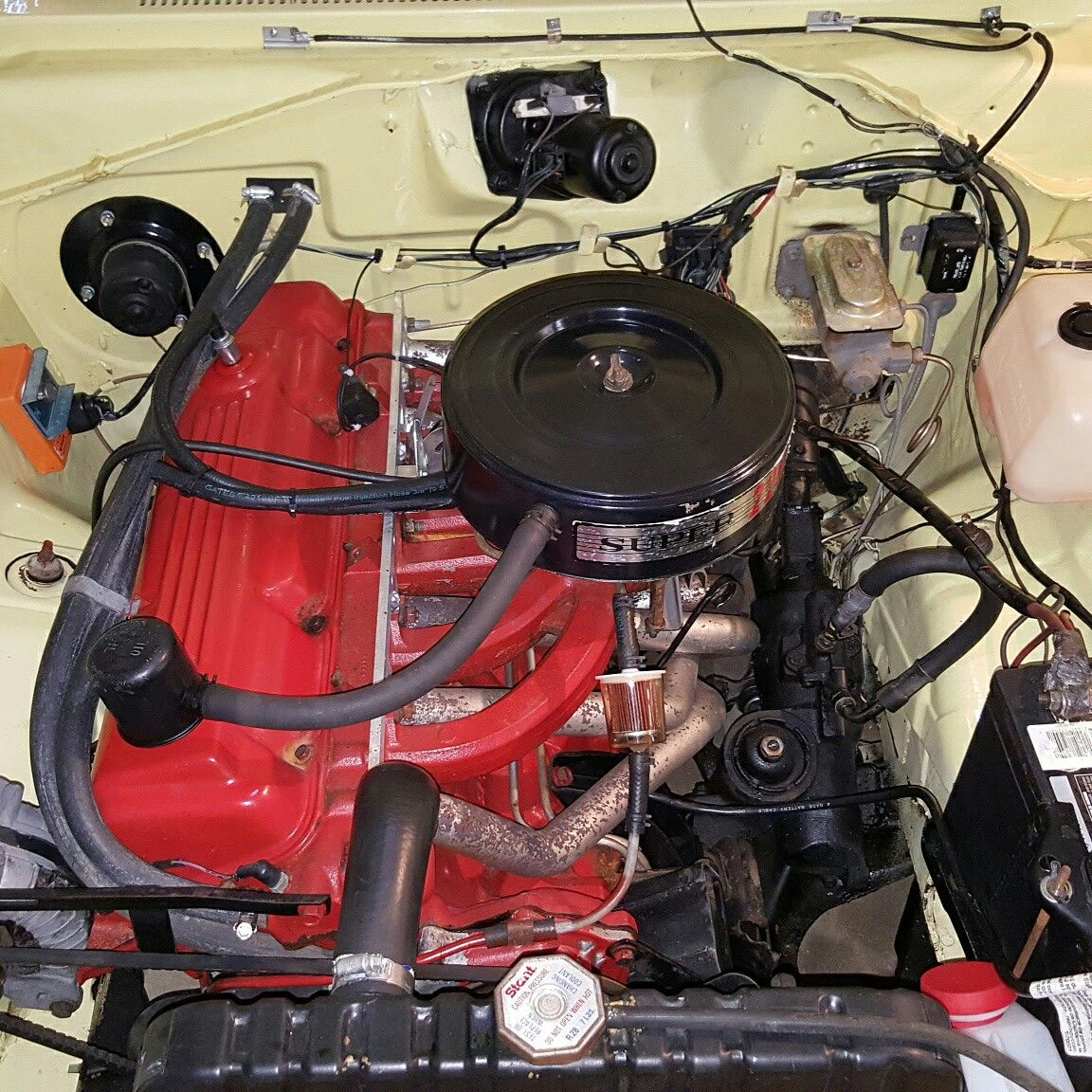 1967 block installed in an early production 1968 Plymouth
