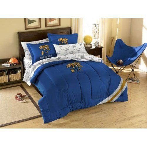 With Team Colored Sheets Penn State Nittany Lions Bed in a Bag