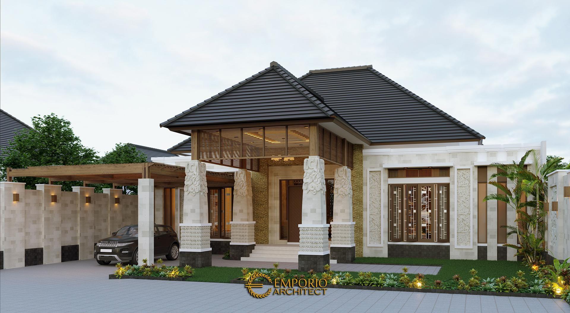 Desain Rumah Villa Bali 1 Lantai Bapak Jon Di Pekanbaru Riau Desain Lantai Desain Rumah Desain Rumah Eksterior