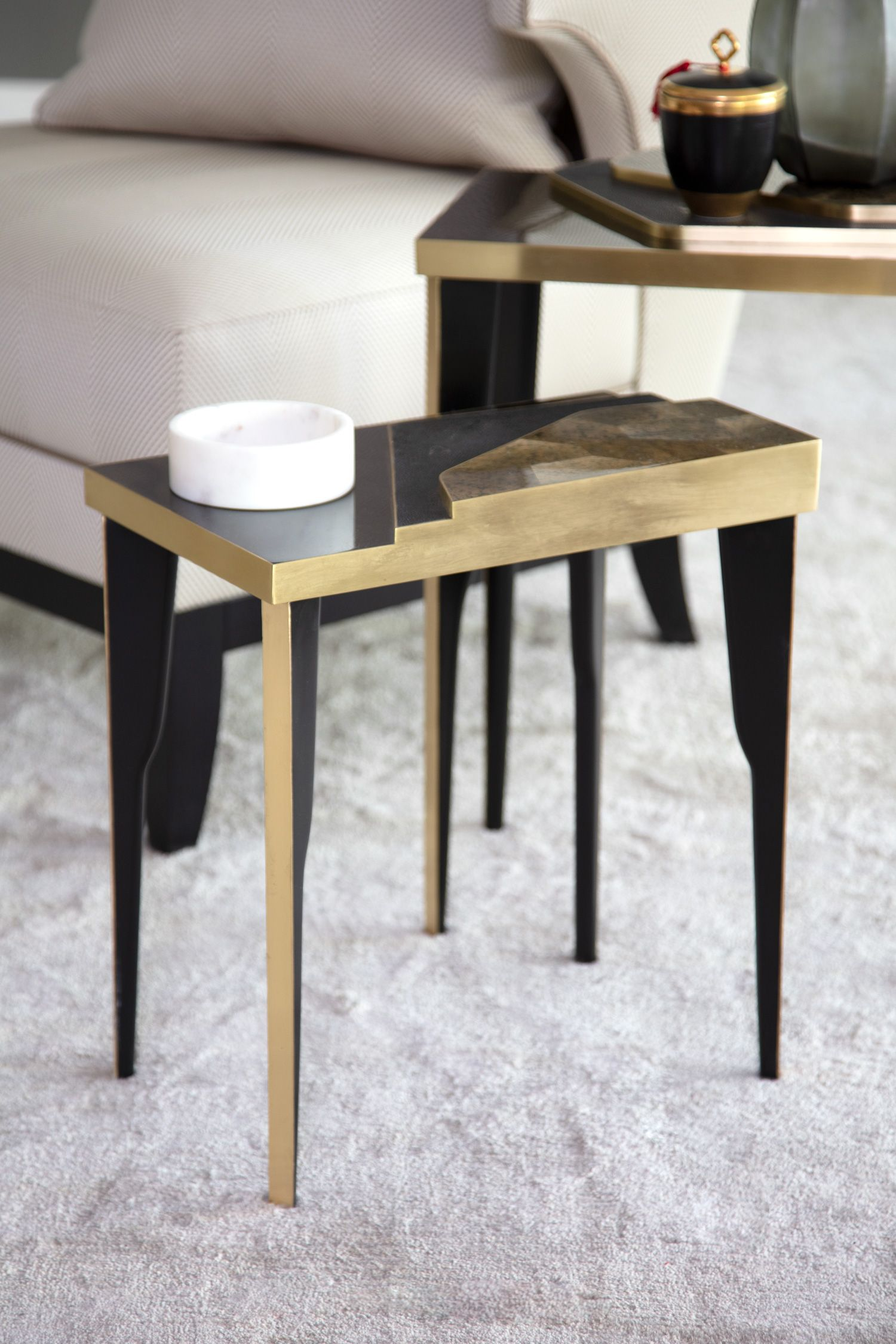 Incorporating Natural Materials Into A Beautiful Modern Design Our Astrid Luxury Side Tables Living Room Side Table Contemporary Side Tables Side Table Design