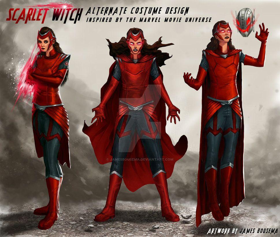 Scarlet Witch Concept Art/Alternate Costume Design by JamesBousema ...