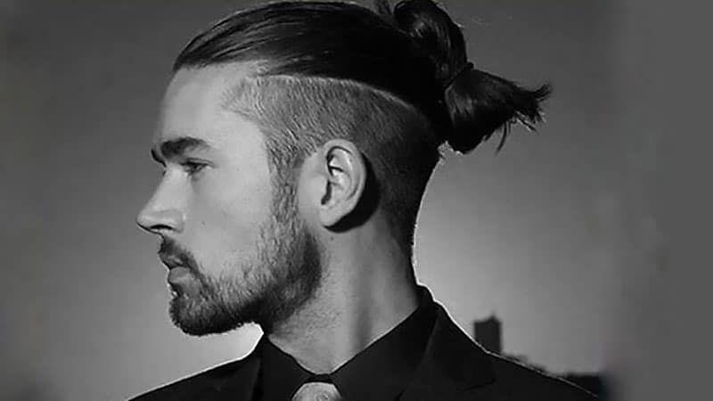 Half Bun With Undercut Viking Hair Mens Hairstyles Mens Hairstyles Undercut