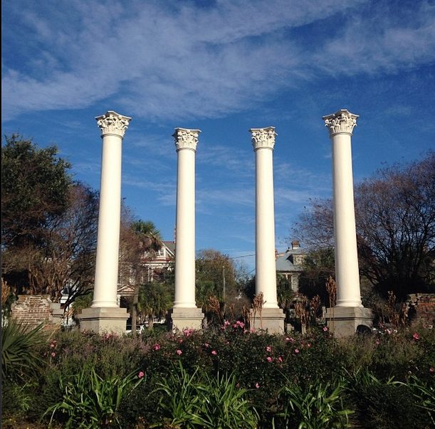 Columns at Cannon Park, the former site of the Charleston Museum, have  stood for more than four decades | Cannon park, American cities, Favorite  city
