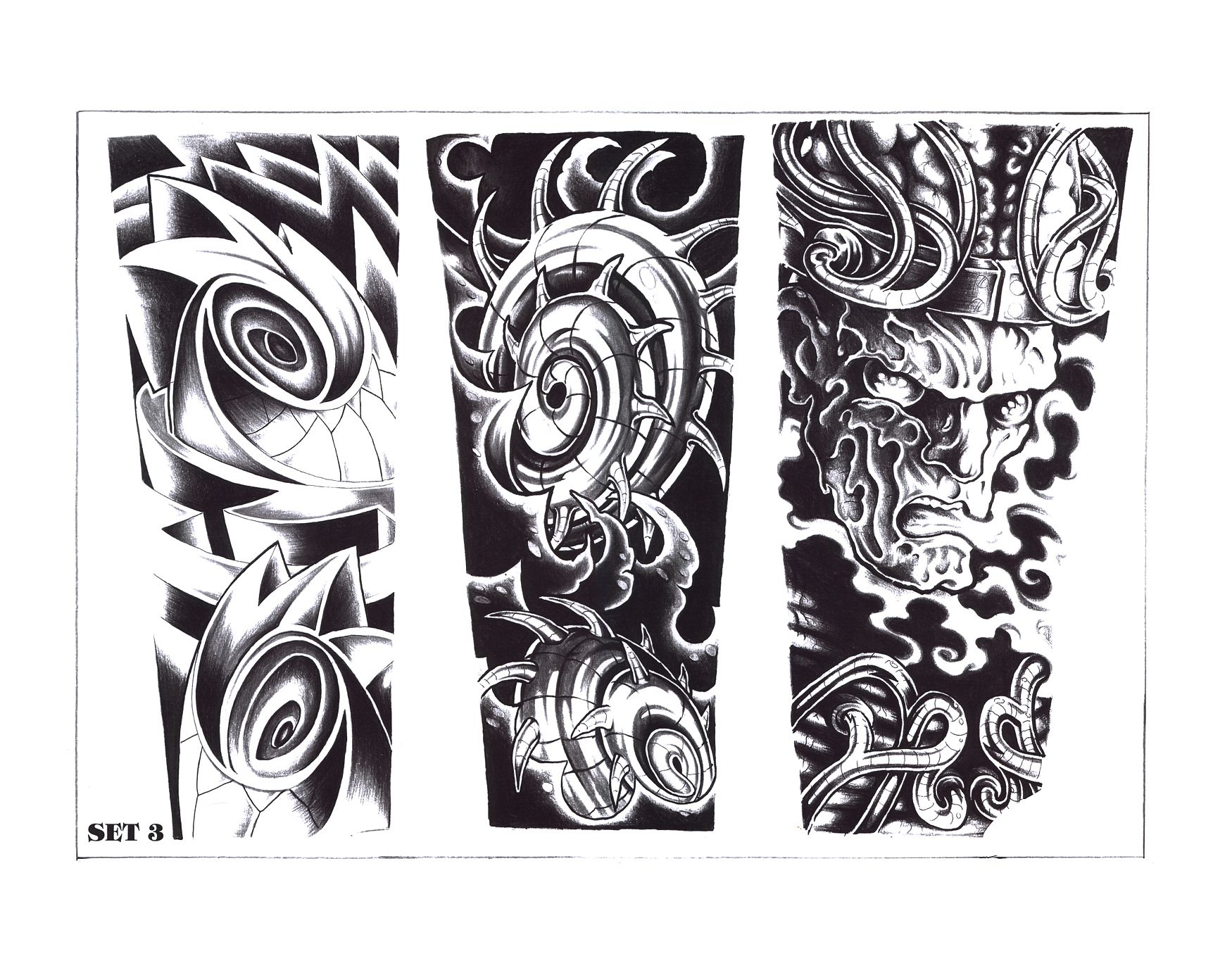 Biomechanical tattoos designs - Tribal Biomechanical Tattoo For Men Real Photo Pictures Images And