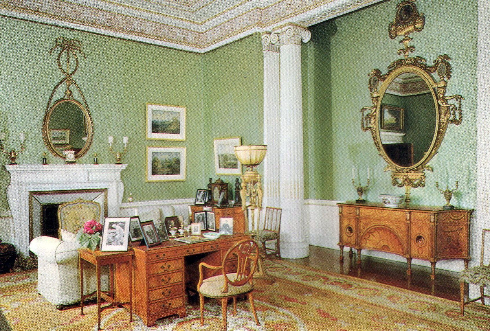 The Princess Royalu0027s Sitting Room, Harewood House, Harewood, Yorkshire.  Intended As A
