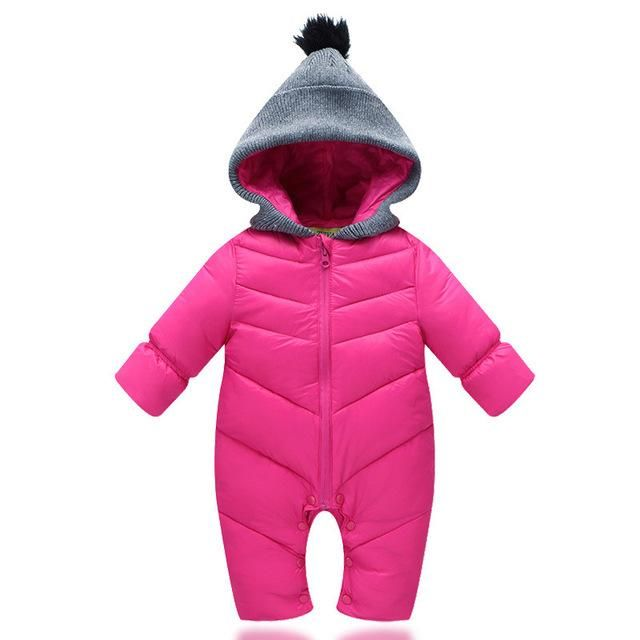 a29ca12ed Baby Rompers infant Boy hooded Thick Jumpsuit romper baby wear ...