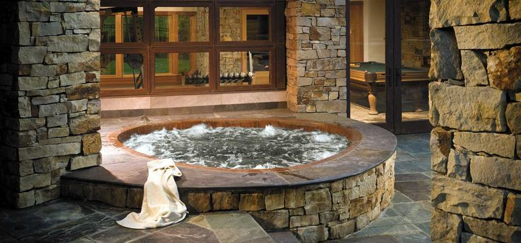 Above Ground Built In Indoor Hot Tub Indoor Hot Tub Hot Tub Designs Hot Tub Landscaping